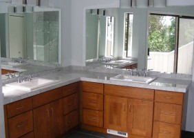 Bathroom Counter Top and Flooring