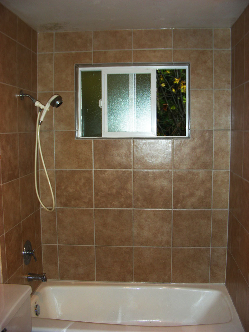 Custom Travertine Bathroom Tile Replacement